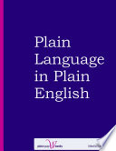Plain Language in Plain English