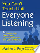 You Can   t Teach Until Everyone Is Listening