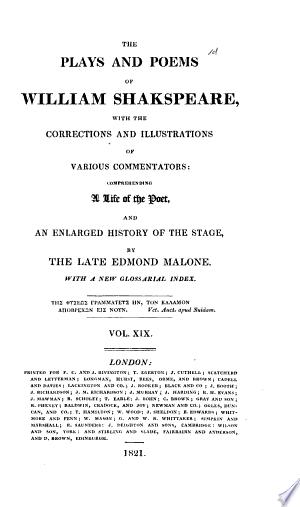 The Plays and Poems of William Shakspeare: Richard III. Henry VIII