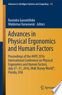 Advances in Physical Ergonomics and Human Factors
