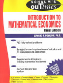 Schaum   s Outline of Introduction to Mathematical Economics
