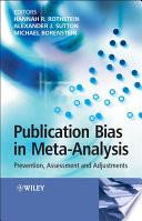 Publication Bias in Meta Analysis