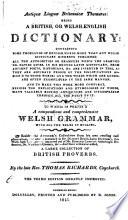 Antiquae Linguae Britannicae Thesaurus