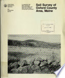 Soil Survey of Oxford County Area  Maine