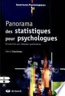 Panorama des statistiques pour psychologues