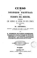 download ebook curso de derecho natural ó de filosofía del derecho, formado con arreglo al estado de esta ciencia en alemania pdf epub