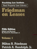 Friedman on Leases