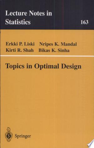 Topics in Optimal Design - ISBN:9780387953489