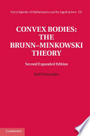 Convex Bodies  The Brunn   Minkowski Theory