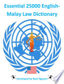 Essential 25000 English Malay Law Dictionary