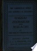 Haggai  Zechariah  Malachi