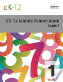 CK 12 Middle School Math Grade 7  Volume 1 Of 2