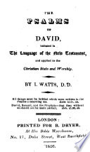 The Psalms Of David Etc With Hymns And Spiritual Songs