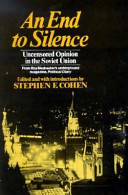 An End to Silence