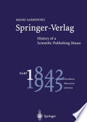 Springer Verlag  History of a Scientific Publishing House