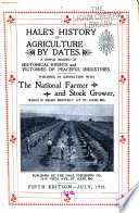 Hale s History of Agriculture by Dates