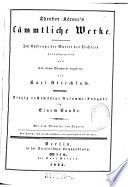 Sämmtliche Werke ; Einzig rechtmäßige Gesammt-Ausgabe in Einem Bande