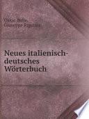 Neues italienisch deutsches W rterbuch