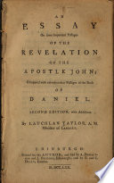 An Essay On Some Important Passages Of The Revelation Of The Apostle John