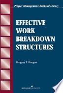 Effective Work Breakdown Structures