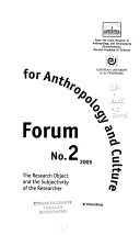 Forum for Anthropology and Culture