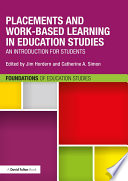 Placements and Work based Learning in Education Studies