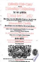 Historische Welt-Cart das ist: Ordentliche Beschreibung der vier grössesten Reich der Welt, von Nino, dem ersten Assirischen Kayser ... Erstlich in italiänischer Sprach beschrieben durch p. Antonium Foresti ..