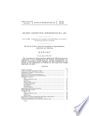 Military construction appropriations bill  2005   report