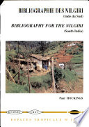 Bibliographie g  n  rale sur les monts Nilgiri de l Inde du sud 1603 1996