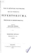Hazai és külföldi folyóiratok magyar tudományos repertóriuma