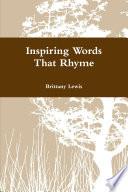 Inspiring Words That Rhyme