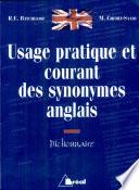 Usage Pratique Et Courant Des Synonymes Anglais