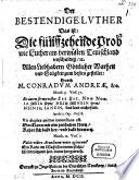 Der bestendige Luther