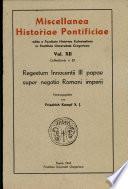 Regestum Innocentii III Papae super negotio Romani Imperii
