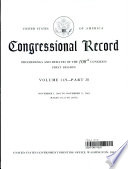 Congressional Record, V. 149, PT. 20, November 5, 2003 To November 11, 2003 : and debates of the united states congress, issued...