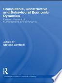 Computable  Constructive   Behavioural Economic Dynamics