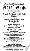 Herzoglich-wirtembergisches Adreß-Buch