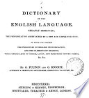 A dictionary of the English language  by G  Fulton and G  Knight