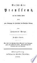 Geschichte Preussens: bd. Die zeit des hochmeisters Konrad von Jungungen, von 1393-1407. Verfassung des ordens und des landes