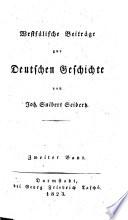 Westfälische Beiträge zur deutschen Geschichte