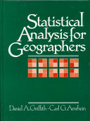Statistical Analysis for Geographers
