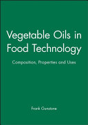 Vegetable Oils in Food Technology Lipid And A Large But Unknown Number Of
