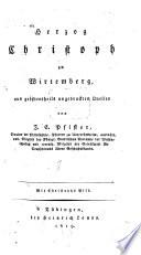 Herzog Christoph zu Wirtemberg