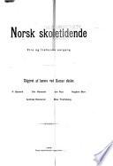 Norsk skoletidende
