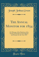 The Annual Monitor for 1854