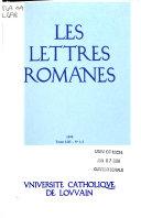 Les Lettres romanes