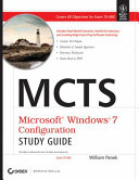 MCTS MICROSOFT WINDOWS 7 CONFIGURATION STUDY GUIDE  EXAM 70 680  With CD