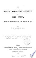 The Education and Employment of the Blind