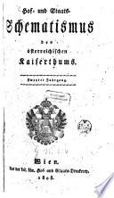 Hof- und Staats-Schematismus des Österreichischen Kaiserthumes