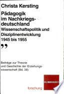 Pädagogik im Nachkriegsdeutschland